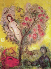 La Branche poster print by Marc Chagall
