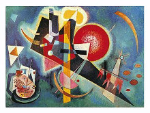 Blue poster print by Wassily Kandinsky