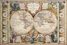Antique Map - Mappe Monde, 1755 poster print by Jean-Baptiste Nolin