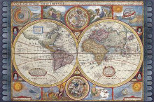 Antique Map - New Map Of The World, 1626 poster print by John Speed