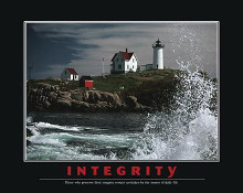 Integrity poster print by  Motivational
