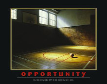 Opportunity poster print by  Motivational