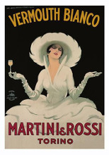 Martini and Rossi Vermouth Bianco poster print by Marcello Dudovich