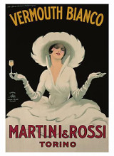 Martini and Rossi Vermouth Bianco poster print by  Unknown