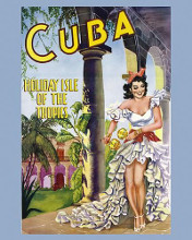 Cuba - Holiday Isle of the Tropics poster print by  Vintage