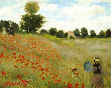 Coquelicots poster print by Claude Monet