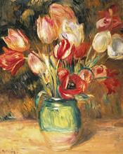 Bouquet of Flowers poster print by Pierre-Auguste Renoir