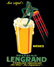 Brasserie Lengrand poster print by  Vintage