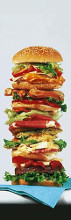Hamburger poster print by  Unknown