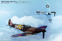 Airplane Spitfire Mk-9 poster print by  Unknown
