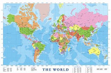 Map of the World poster print