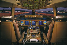 Airplane - Boeing 777-200 Flight Deck poster print by  Unknown