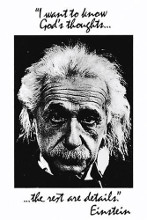 Einstein-God's Thoughts poster print by  Unknown