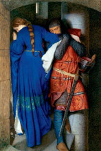 Meeting on Turret Stairs poster print by Frederick Willi Burton