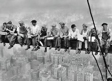 Lunch Atop a Skyscraper poster print by Charles C. Ebbets