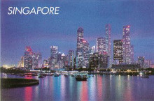 Singapore at Night poster print by  Unknown