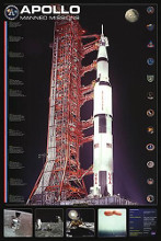 Apollo Manned Missions poster print