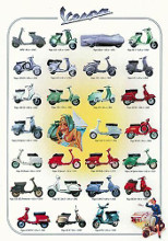 Vespa poster print by  Anonymous