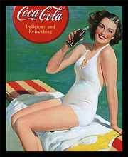 Coca-Cola Girl in Bathing Suit Vie poster print by  Unknown