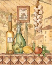 Flavors Of Tuscany IV - Mini poster print by Charlene Audrey