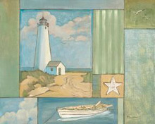 Lighthouse Collage I poster print by Paul Brent