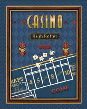 High Roller poster print by Daphne Brissonnet