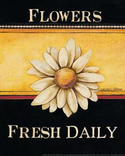 Flowers Fresh Daily - Mini poster print