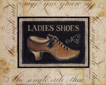 Ladies Shoes No 25 poster print by Kimberly Poloson