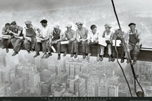 Men on Girder New York poster print by  Unknown