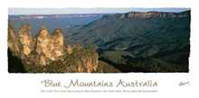 Blue Mountains Australia poster print by Jorg Heumuller