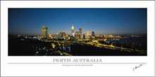 Perth Australia poster print by Jorg Heumuller