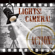 Lights! Camera! Action! poster print