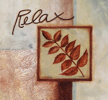 Relax poster print by Maria Woods