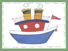 Boat poster print by Carol Robinson