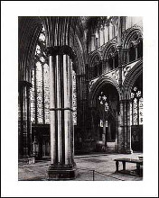Lincoln Cathedral Angel Choir 1895 poster print by Gene Gabelli