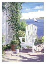 Garden on the Bluff poster print by Carol Saxe