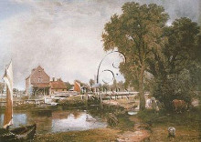 Mill At Dedham poster print by John Constable