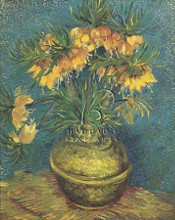 Bell Lilies In A Copper Vase poster print by Vincent van Gogh