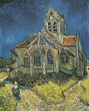 Church At Auvers poster print by Vincent van Gogh