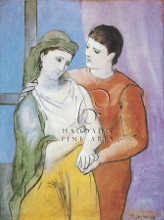 Lovers poster print by Pablo Picasso