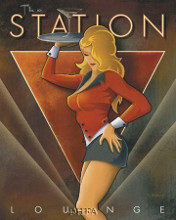 Station Lounge poster print by Michael L Kungl