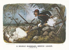Double-Barreled Breech-Loader poster print by  Currier Ives