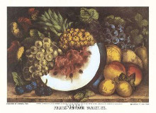 Fruits Autumn Varieties poster print by  Currier Ives