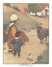 Baa, Baa, Black Sheep poster print by Blanche Fisher Wright