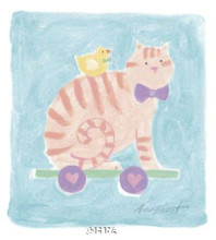 Cat Toy poster print by Karen Anagnost