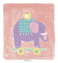Elephant Toy poster print by Karen Anagnost
