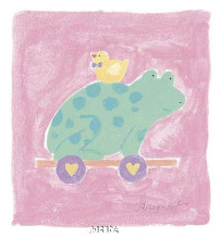 Frog Toy poster print by Karen Anagnost