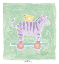 Zebra Toy poster print by Karen Anagnost