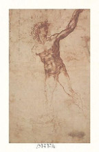 Study Of A Standing Male Figure poster print by  Michelangelo