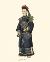 Chinese Mandarin Figure VI poster print by Anonymous Chinese Figures